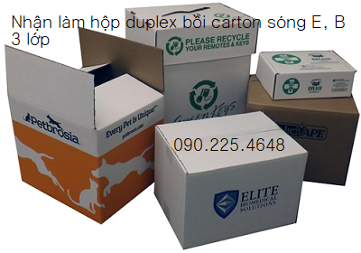 In hop carton boi duplex gia re o dau