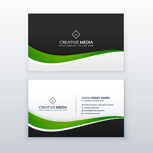 green business card professional design template
