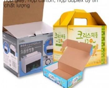 In Hộp Carton bồi giấy Duplex giá rẻ tại Hà Nội