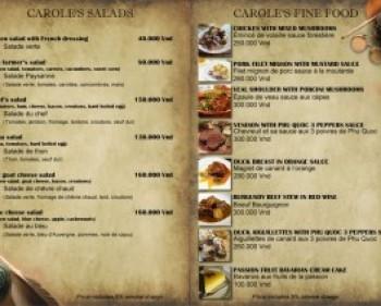 In Menu nhà hàng giá rẻ- đẹp – lấy nhanh